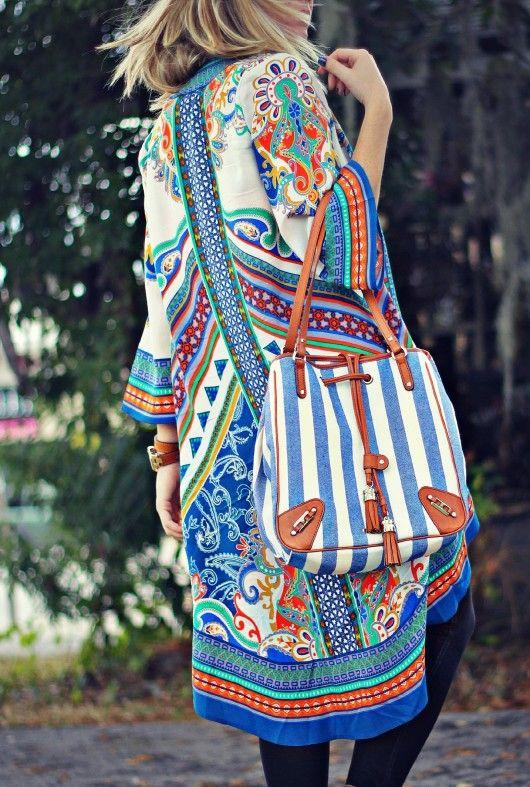 Bohemian Kimono @Rebecca Minkoff handbag
