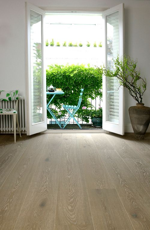 Oak Silver White Pre-oiled Wood Flooring From The Natural Wood Floor Company - http://www.periodideas.com/oak-silver-white-pre-oiled-wood-flooring-natural-wood-floor-company