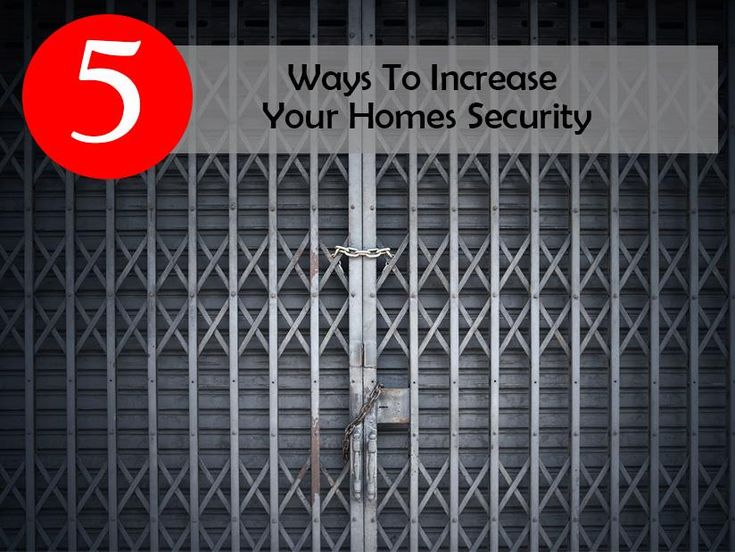 Your homes' security is the most important aspect to consider, whether you live alone or have a family to take care of. You need to be sure that intruders don't enter your home when you are sleeping, when you are away at work or enjoying your annual vacation. We have looked at 5 ways to increase the security of your home.