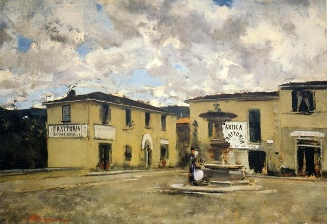 trattoria dei nonni a Settignano- Telemaco Signorini