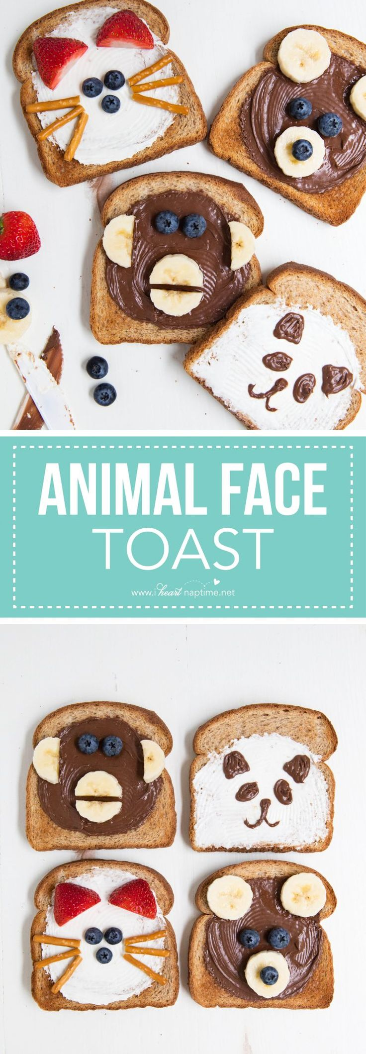Kick off your kiddo's day with this fun animal face toast recipe!