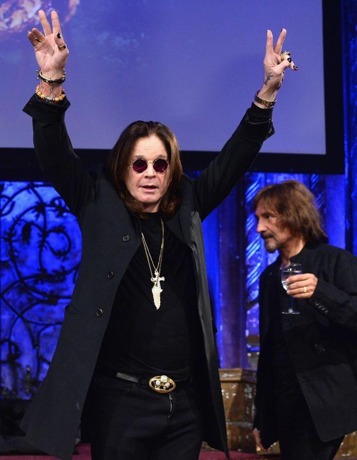 All hail Black Sabbath! The Prince of Darkness, aka Ozzy Osbourne, celebrates the release of Black Sabbath's new studio album, 13, on June 11 in New York�