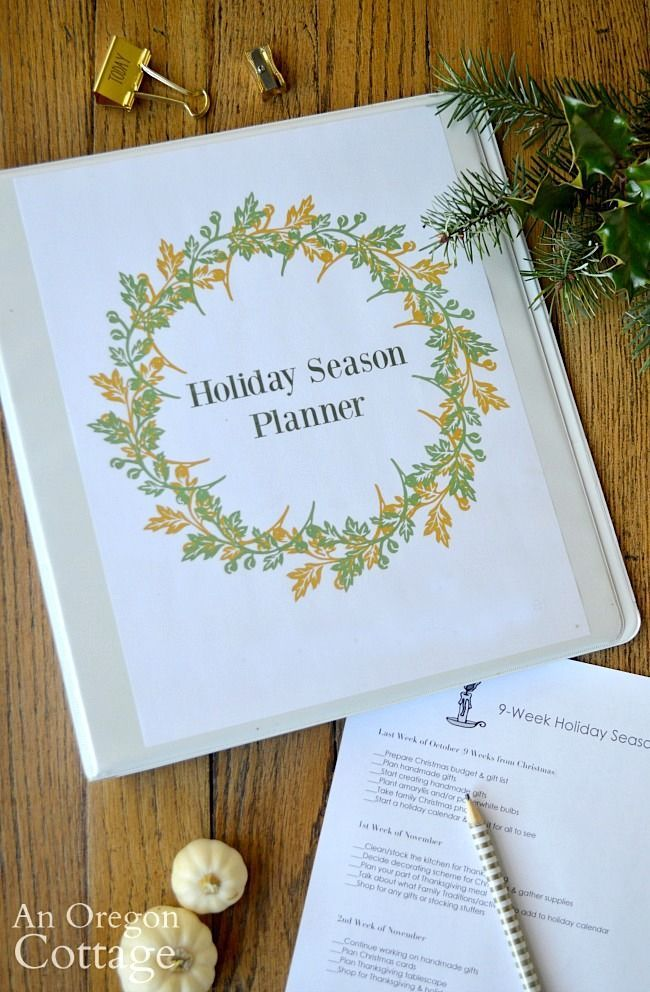 Simplify The Season With The Free Holiday Planner For 2020 An Oregon Cottage In 2020 Holiday Planner Indoor Christmas Lights Holiday
