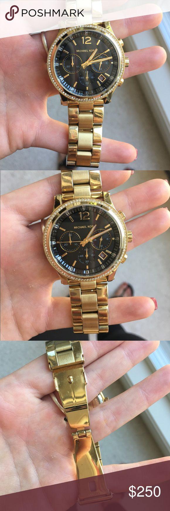 Michael Kors gold watch blue face Michael Kors gold watch blue face Michael Kors Jewelry Bracelets