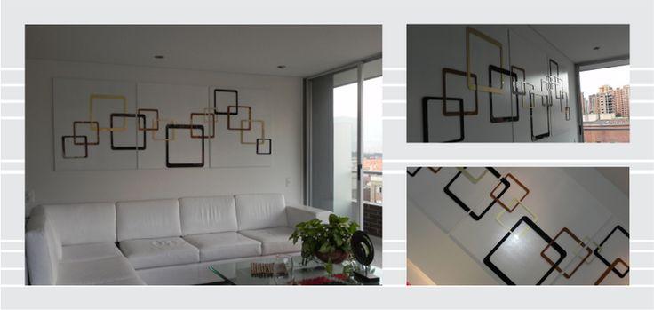 Decoración / Cuadros / Combinación de materiales / Tendencia / Decoración de interiores / Acero / Acrílico / madera / Plotter /   Pregúntanos por más: http://173estudiocreativo.com/