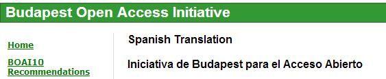 Budapest Open Access Initiative _ Instituto para la sociedad abierta - Emplea sus recursos e influencia para extender y promover el auto-archivo institucional, el lanzamiento de publicaciones de acceso abierto y para ayudar a que un sistema de publicaciones de acceso abierto llegue a ser auto-sustentable