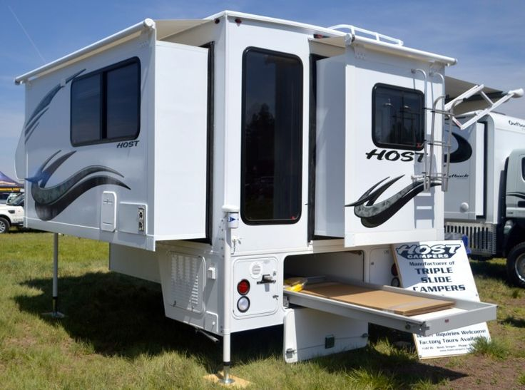 "In 2007, Bend, Oregon-based Host credited itself with ""America's first triple slide truck camper"""