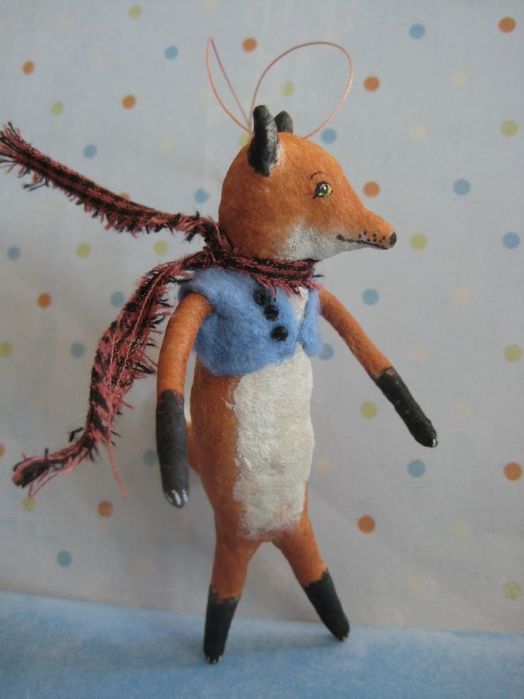 FOX Spun Cotton Ornament by Maria Pahls