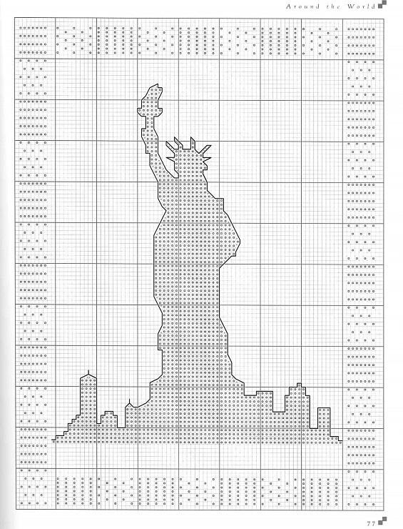 statue of liberty cross stitch