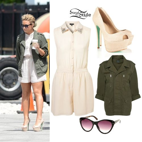 Demi Lovato: Diamante Playsuit Outfit | Steal Her Style