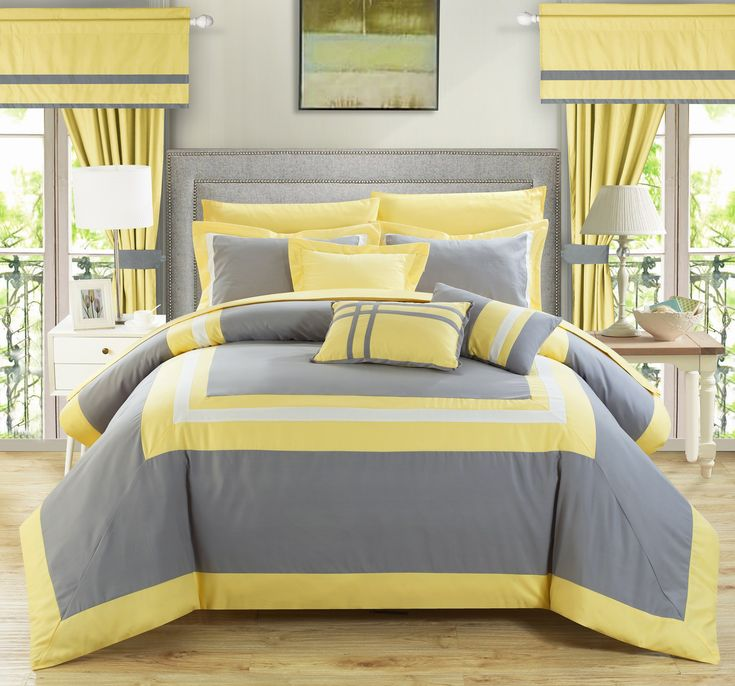 Floral Yellow 8-piece Comforter Set | Overstock.com Shopping - The Best Deals on Comforter Sets