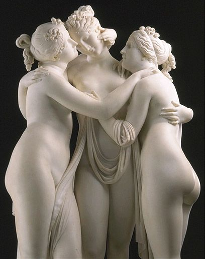 The Three Graces-  Antonio Canova-  Hermitage Museum, Moscow                                                                                                                                                                                 Plus