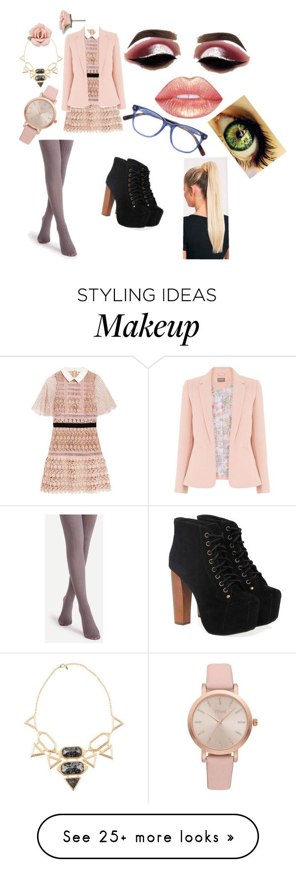 """""""Quinn #1"""" by trisrebel on Polyvore featuring self-portrait, Jeffrey Campbell, Beauty Bakerie, Isharya, Vivani and 1928"""