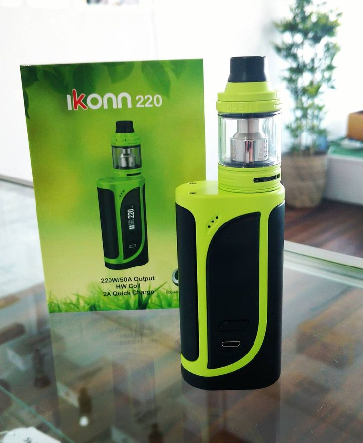 The iKonn 220 now in stock @vaporaecigs  Available in Greenery Black, Red & Black, Blue & Black for only $74.95 #newvape #aussievapers #greenwithenvy