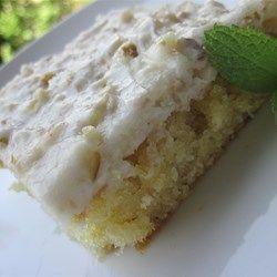 White Texas Sheet Cake - Allrecipes.com