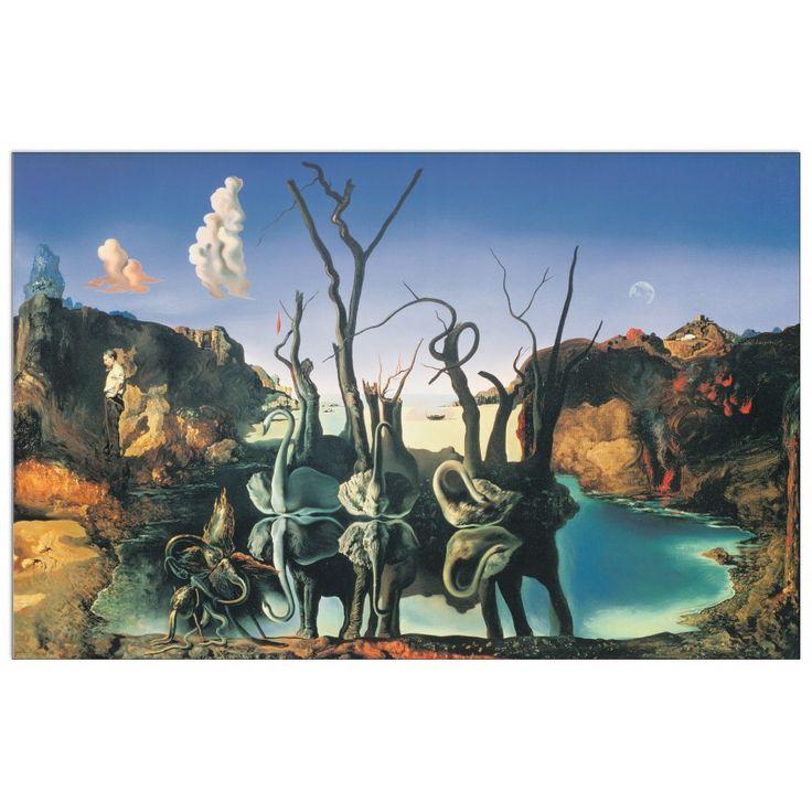 DALÌ - Il riflesso dei cigni genera l'immagine degli elefanti, 1937 73x53 cm #artprints #interior #design #art #print #animals  Scopri Descrizione e Prezzo http://www.artopweb.com/EC15135