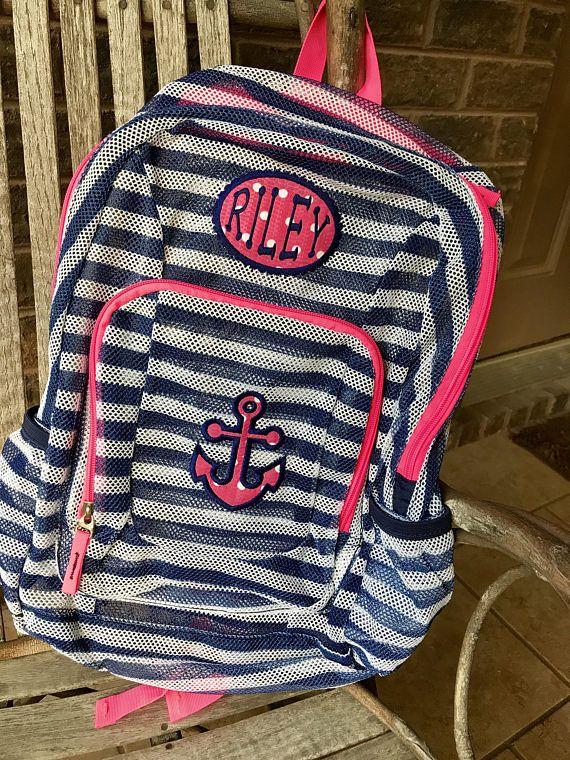 Monogrammed Backpack  Anchor  Anchor Backpack  Girls