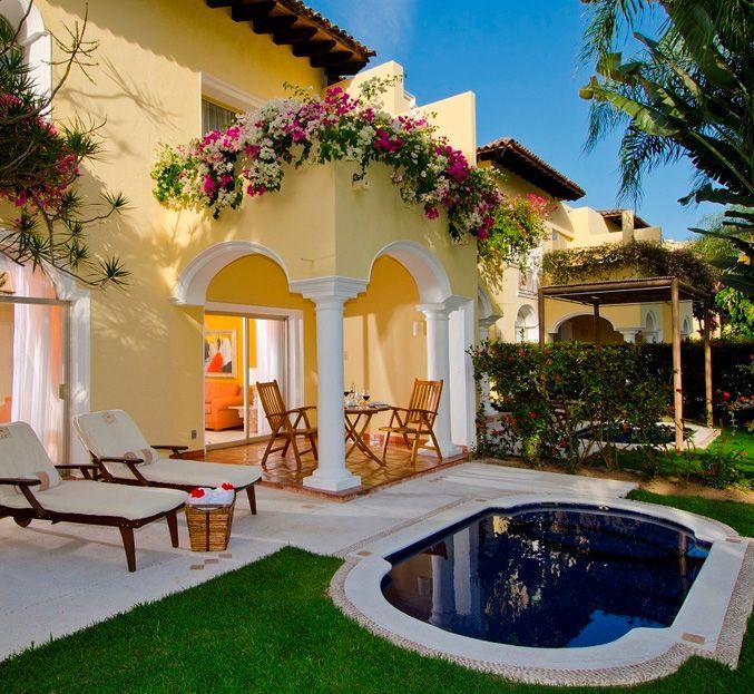 Hermosa combinaci n de amarillo con el color de la for Terrazas mexicanas