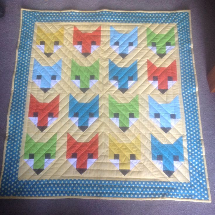 Fox quilt for Mel's baby, Lucy.
