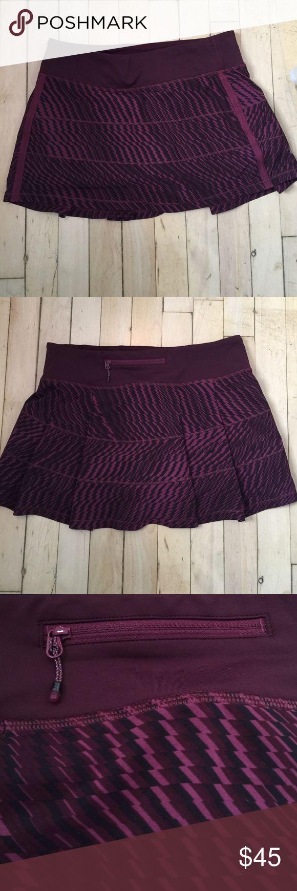 Lululemon athletica skirt Lululemon athletica skirt - worn once... size 6Reg.... color is burgundy and black lululemon athletica Other
