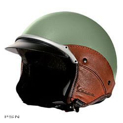 Vespa Vintage Helmet from Vespa Accessories - A SMART Boho girl protects her head while riding a moped, scooter or cafe racer. Get a cute,classy, vintage looking helmet such as this.
