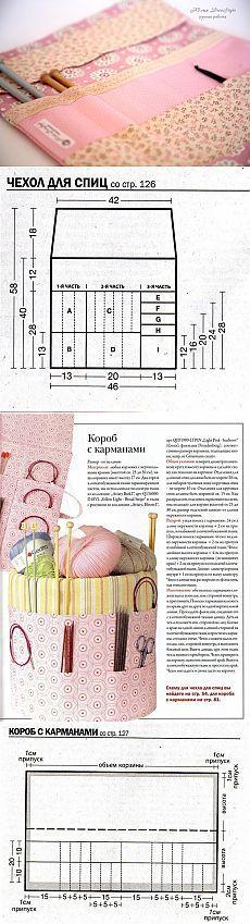 Органайзеры для сумок и рукоделия с МК органайзера для спиц и крючков от Юлия DecoStyle .