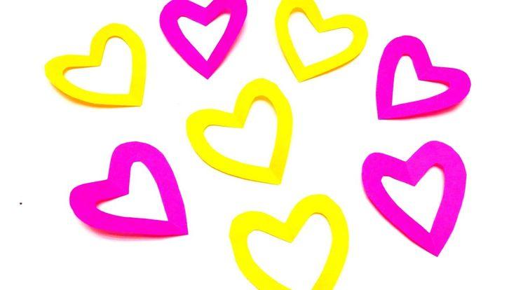 VALENTINE'S DAY PAPER HEART   VALENTINES DAY CRAFT IDEAS   EMMA DIY #19