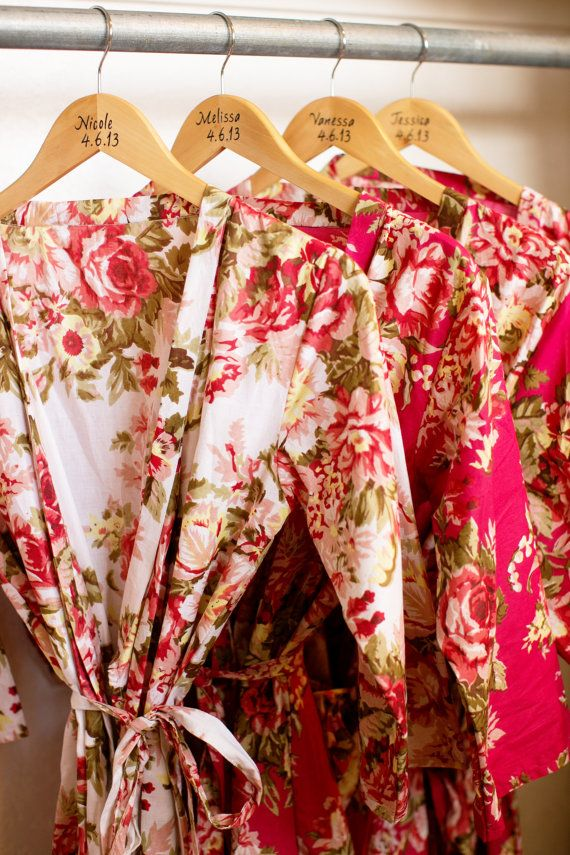 OMG Love these!! Beautiful rose floral silk robes--stunning #bridesmaid gift!