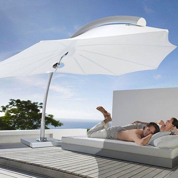 icarus parasol d port disponible dans 2 qualit s de toile. Black Bedroom Furniture Sets. Home Design Ideas
