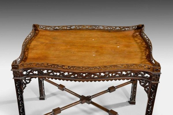 A Chippendale Period Mahogany Silver Table by THOMAS CHIPPENDALE (Ref No. 6662) - Windsor House Antiques