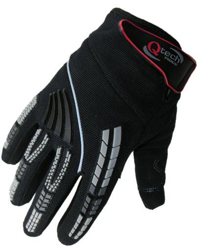 CHILDREN-BMX-Motocross-MX-GLOVES-Kids-BLACK-Trials-motorcross-by-Qtech  £7.95