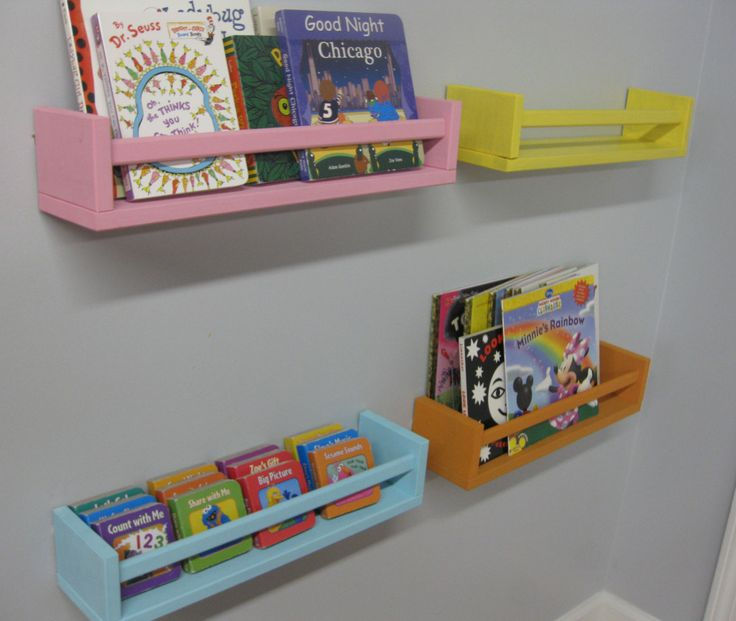 ikea spice racks as bookshelves. So excited to do this with the ones I bought today!!