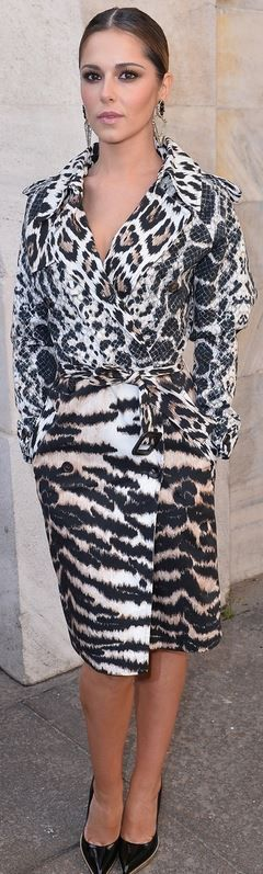 Who made  Cheryl Cole's animal print trench coat?