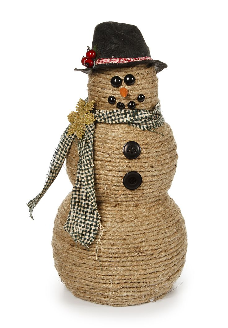 Jute Wrapped Snowman from PatCatans.com