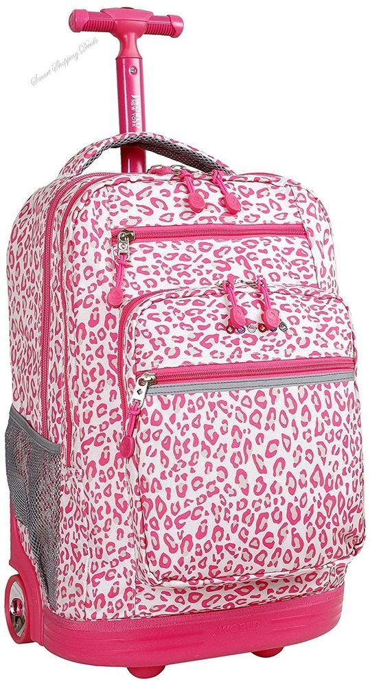 Rolling Backpack For Girls Kids Bag School Backpack Travel Luggage Backpacks  #JWorldNewYorkRollingBackpackForGirls