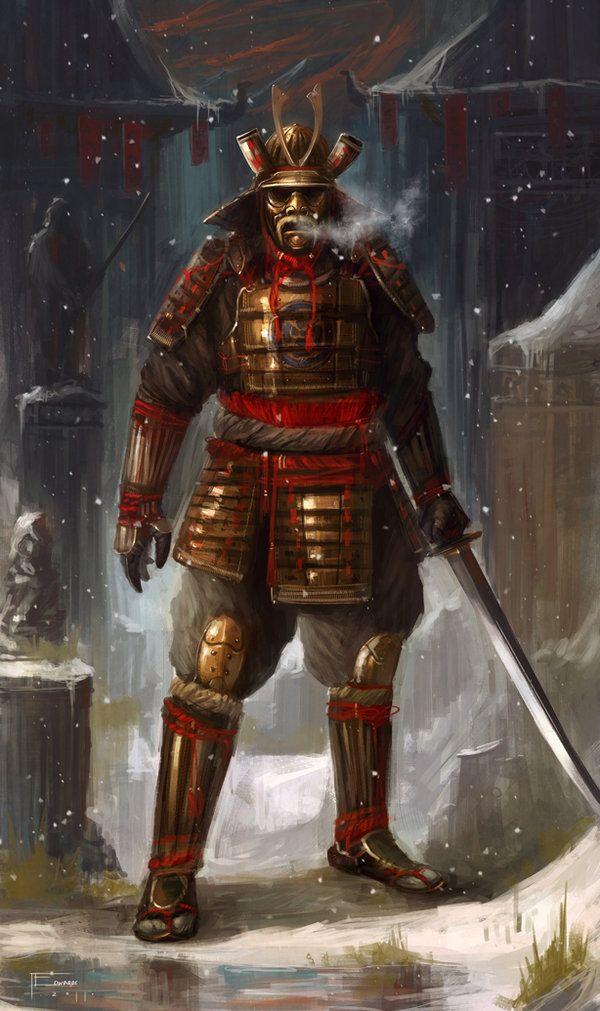 Samurai by ~TomEdwardsConcepts on deviantART