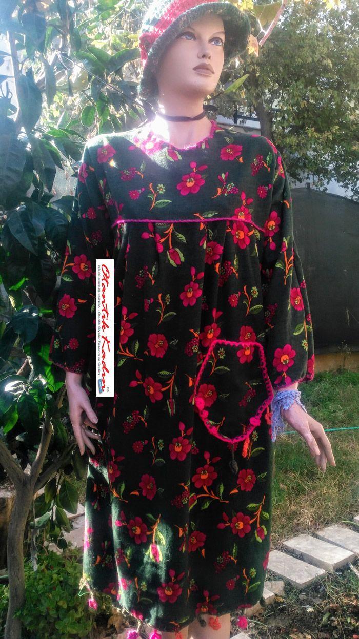 Otantik Yeşil, Çiçekli Pazen Elbise - OE101117 | Otantik Kadın, Otantik Giysiler, Elbiseler,Bohem giyim, Etnik Giysiler, Kıyafetler, Pançolar, kışlık Şalvarlar, Şalvarlar,Etekler, Çantalar,şapka,Takılar