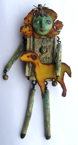 MARY HAD A LITTLE LAMB ART DOLL FOUND OBJECTS, via Flickr.