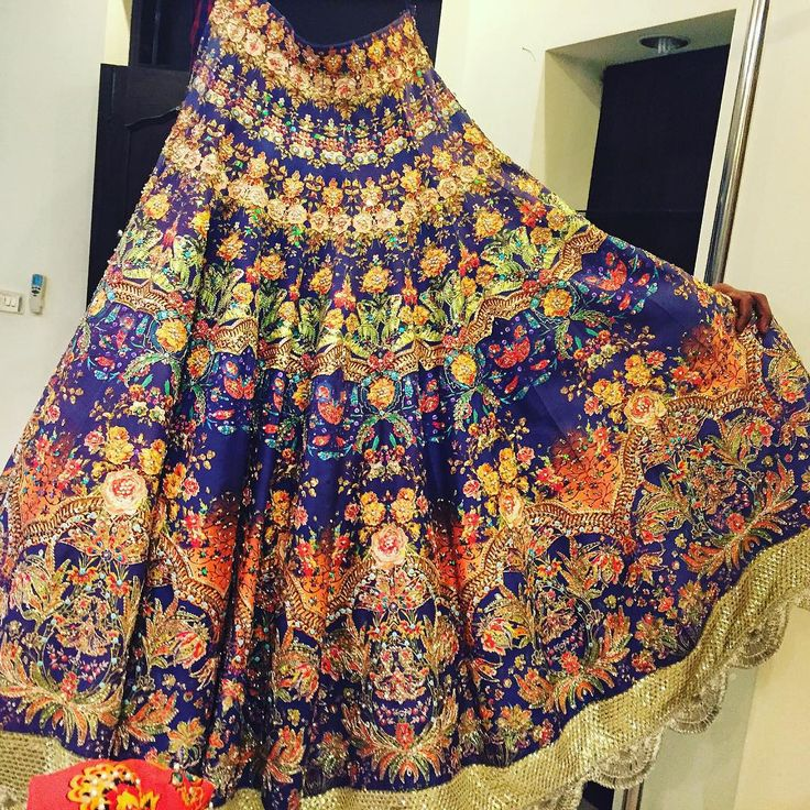 """""""Back in February when I was looking for dresses for my mehndi, I saw this gorgeous lehnga choli at(the insanely AMAZING) Ali Xeeshan, and it was love at…"""""""