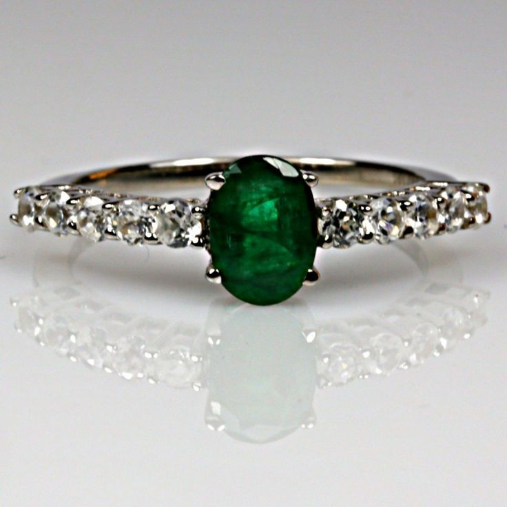 bahia emerald with zircons engagement rings rings g b jewels