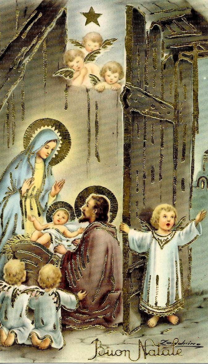 Buon Natale ~ Natività card. This is exactly like the cards I always received from Italy.