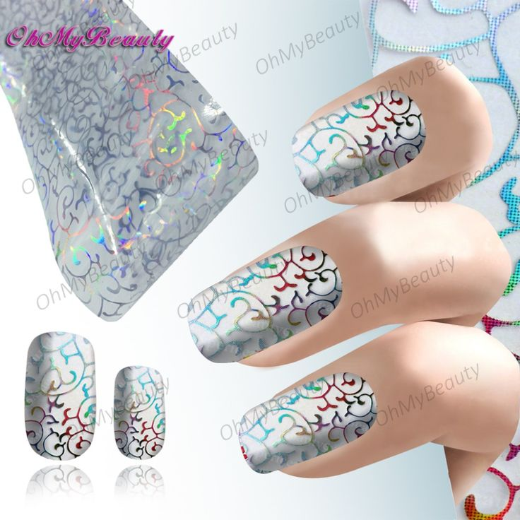 Beauty Nail Art Foil Sticker Decal Lace pattern Nails Water Decals Transfer Nail Wraps Fancy Nail Accessories