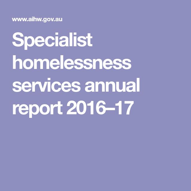 Specialist homelessness services annual report 2016–17
