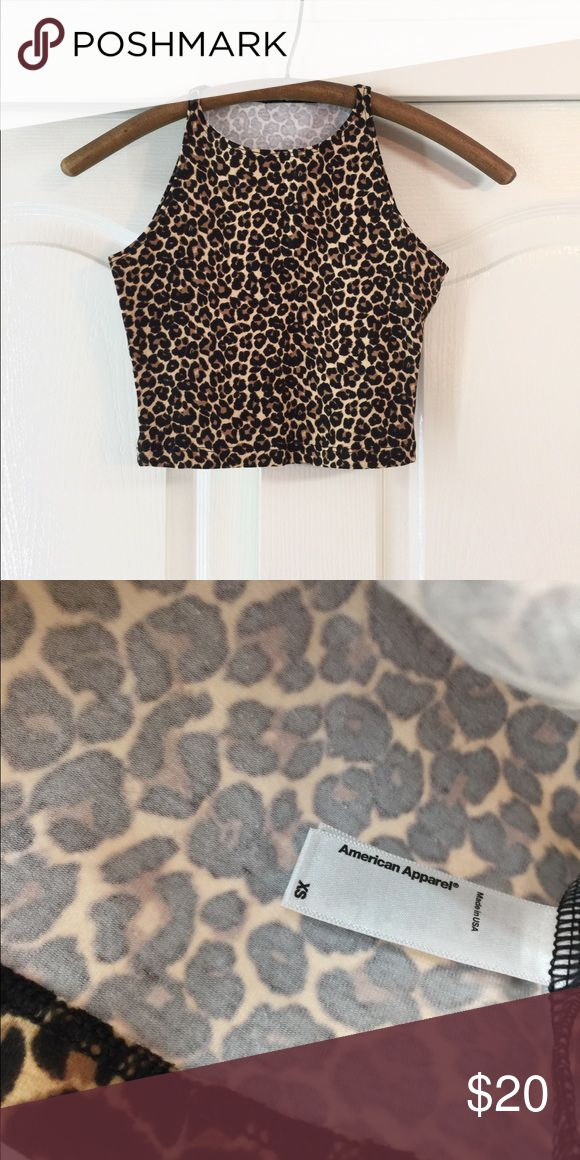 Leopard Print Crop Top Brand new from American Apparel. It came in a plastic bag so it didn't come with tags. I never wore it because I never felt I could pull of animal print. 🦒 🦓 American Apparel Tops Crop Tops