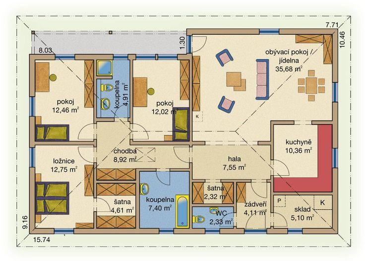 Rodinný dům Bungalov Line 131 – dřevostavba, Bungalov na klíč: HAAS Fertigbau