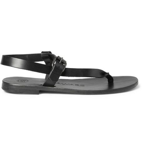 #Alvaro Buckled Leather Sandals