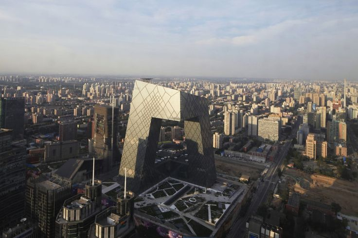 Housing China's Central Television network this stunning building from OMA architects turns the traditional skyscraper into...