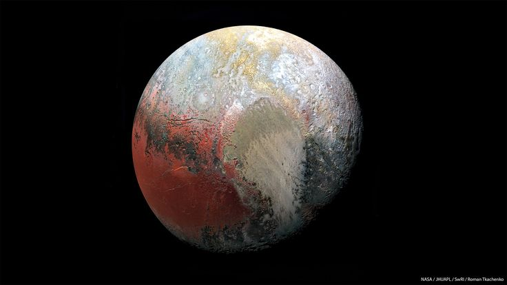 Processed image of Pluto based on principal component analysis technique [1800x1000] http://ift.tt/2dbhwOK