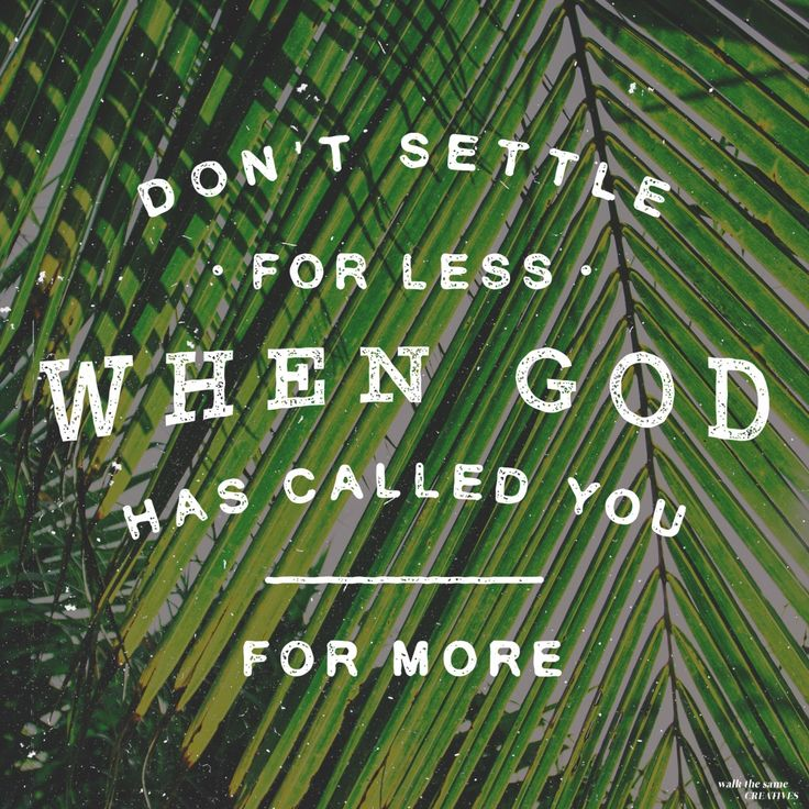 Don't settle for less