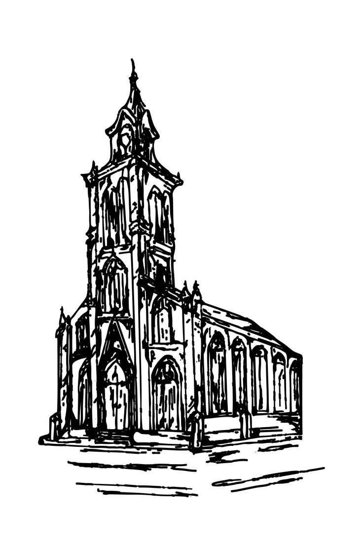 Sketch of St. John UCC in Louisville, KY by Nore Ghibaudy